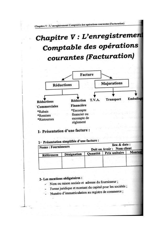 la comptabilité des operations courantes Cours de la facture