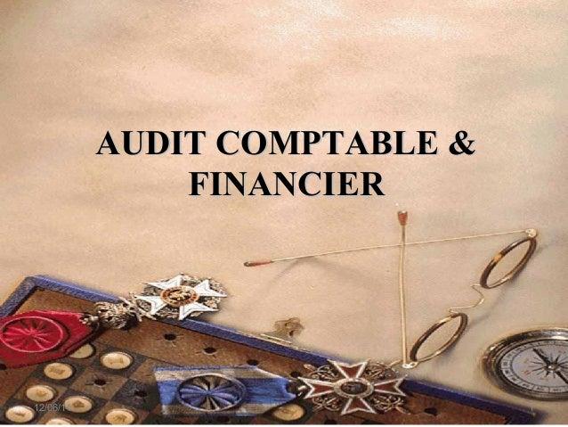 AUDIT COMPTABLE &AUDIT COMPTABLE & FINANCIERFINANCIER 12/06/14 1