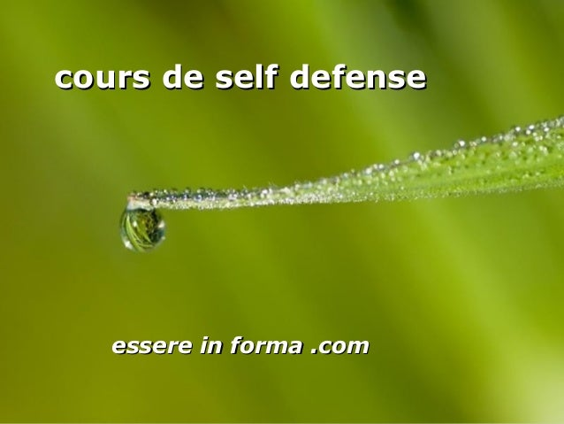 Page 1 cours de self defensecours de self defense essere in forma .comessere in forma .com