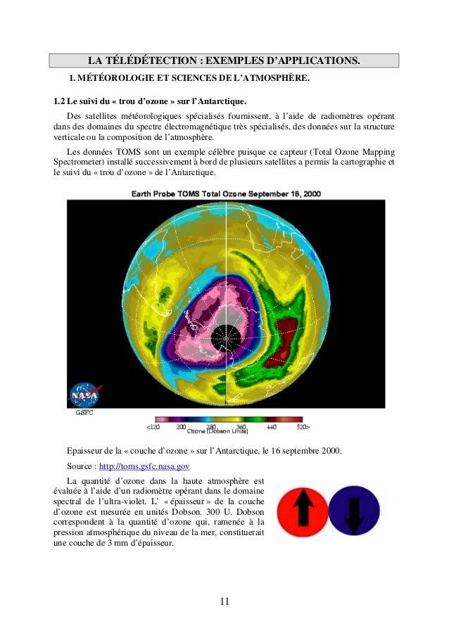 Cours de t l d tection entr e - Distance entre la terre et la couche d ozone ...