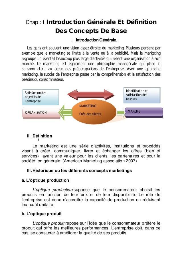 Chap : 1 Introduction Générale Et Définition Des Concepts De Base I. Introduction Générale. Les gens ont souvent une visio...