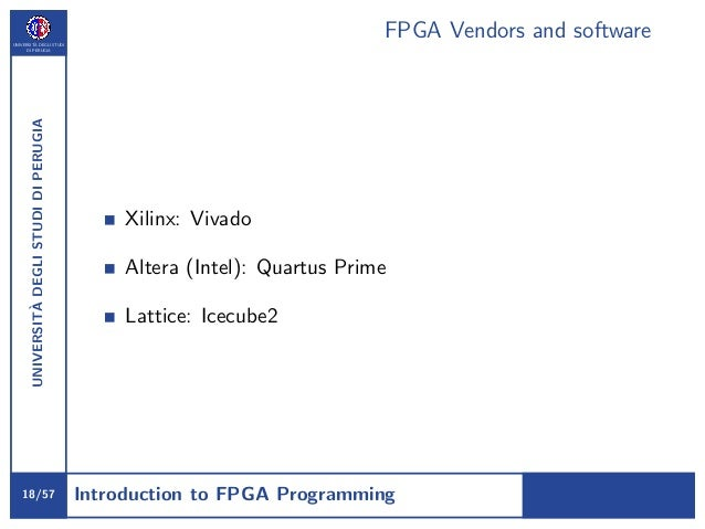 Short course on FPGA programming