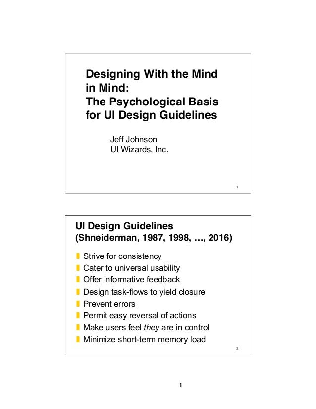 1 1 Designing With the Mind in Mind: