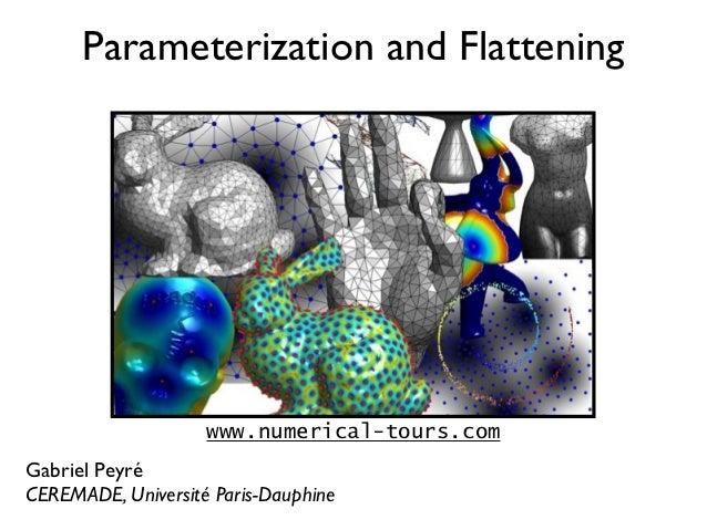 Parameterization and Flattening                    www.numerical-tours.comGabriel PeyréCEREMADE, Université Paris-Dauphine