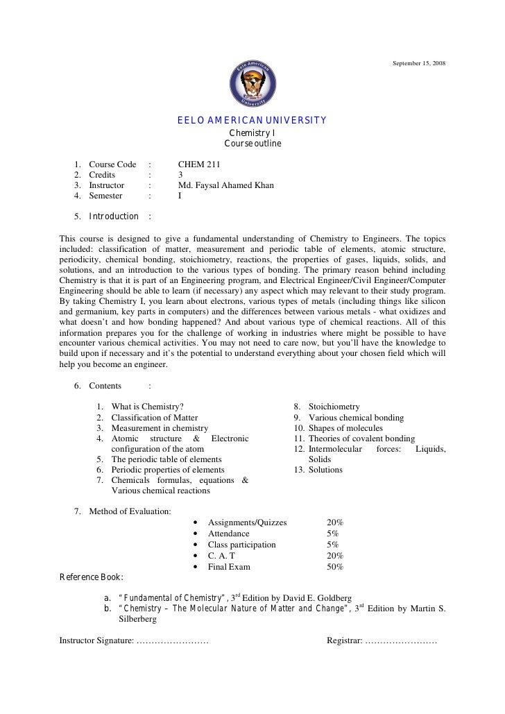 Business Writing I Course Outline