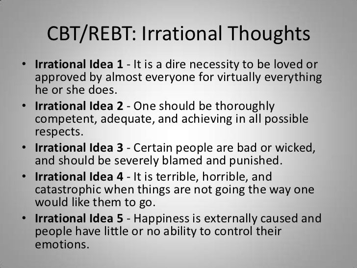 Counseling Theories Irrational Thinking