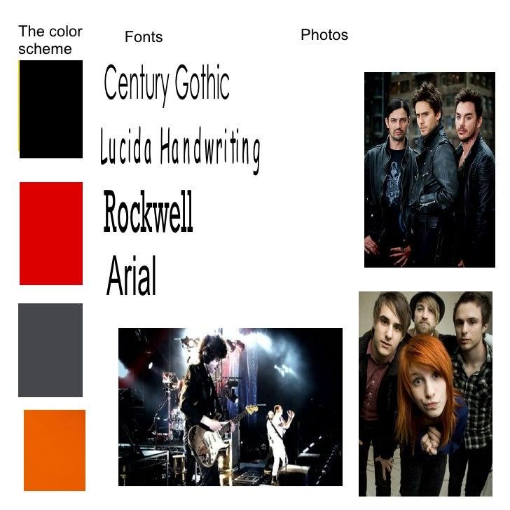 The color scheme Fonts Photos