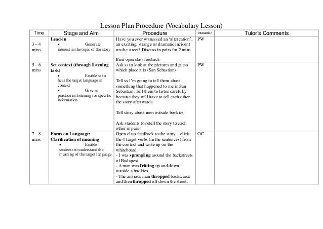 Tutoring Lesson Plans Template Idealstalist