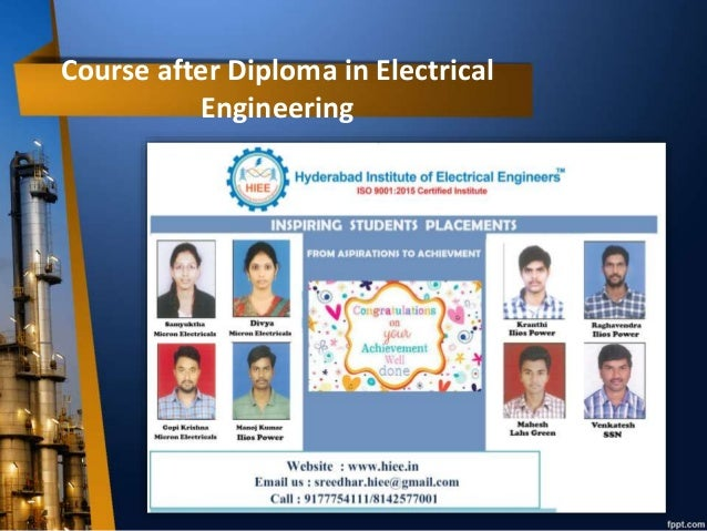 Course after Diploma in Electrical Engineering , Electrical