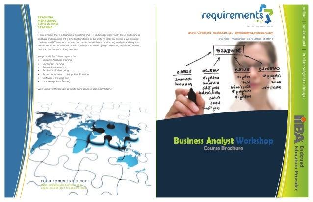 Requirements Inc. is a training, consulting and IT solutions provider with focus on business analysis and requirement gath...