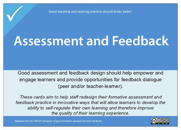                           Good teaching and learning practice should foster better:Assessment and Skills    Information F...