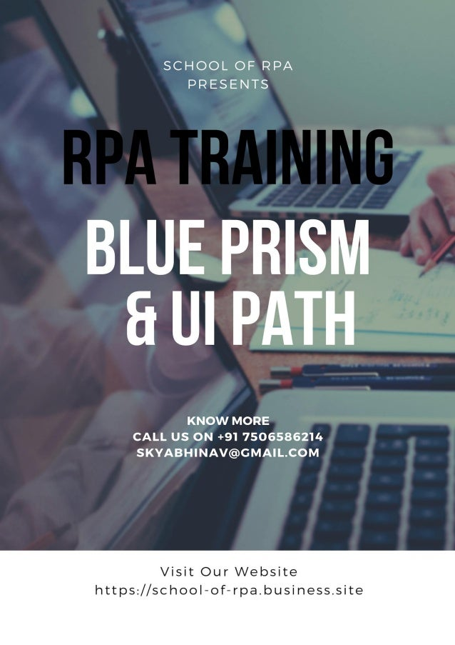 COURSE CONTENTS What is Blue Prism?  Short Blue Prism Demo with a Real time Project Navigation  What is the scope of Blu...