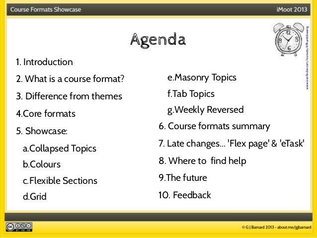 Course formats presentation Slide 2