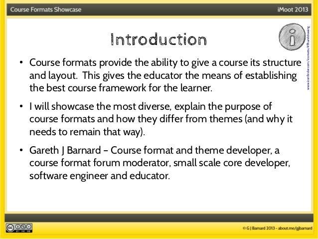 Course formats presentation Slide 3