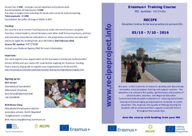 Course fee: € 490 - Includes course materials and cultural visits. Accommodation & Subsistence: € 800 Five days in single ...