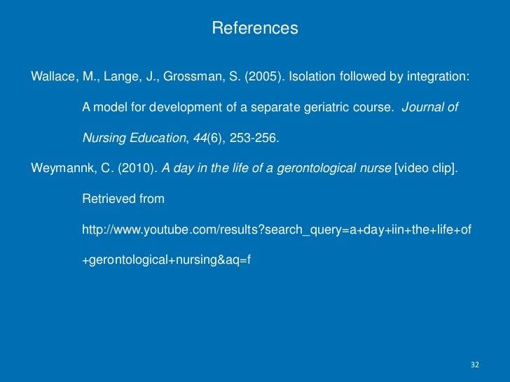 Course Lesson Plan for Geriatric Nursing<br />Mary Huelskamp RN/BSN<br />Student MN/Nurse Educator<br />Kaplan University<...