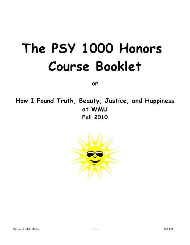 Course material fall 2011 psy1000 h