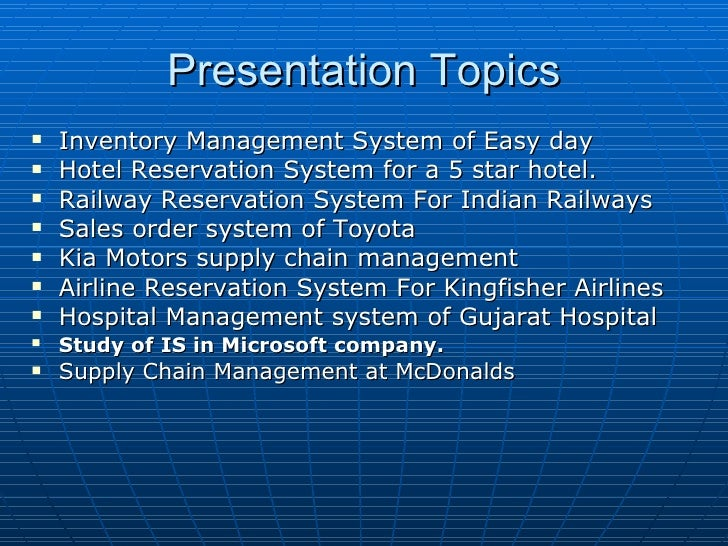 course module bba presentation topics
