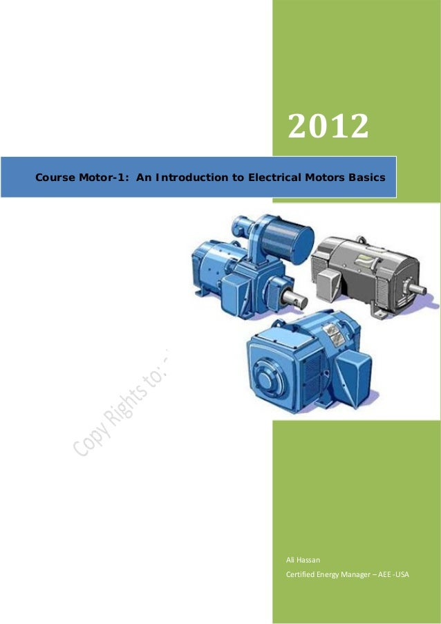 Course Motor 1 An Introduction To Electrical Motors Basics