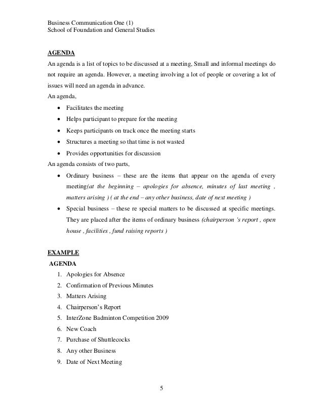 Business Communication Course Notes Topic