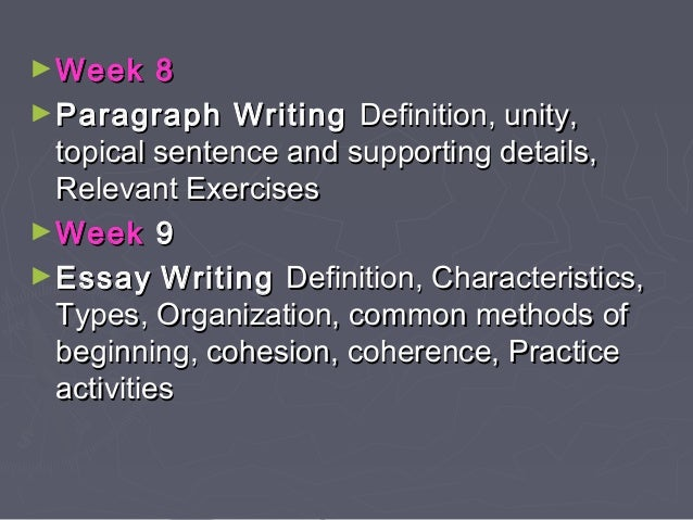 essay unity definition Match each term with its definition potential matches: 1 : correctness of phrases and clauses 2 : word choices made for tone or clarity  staying on topic in an essay or paragraph = unity 5 words that connect ideas and paragraphs = transitions 50 4 votes 4 votes rate rate thanks 13 comments report.