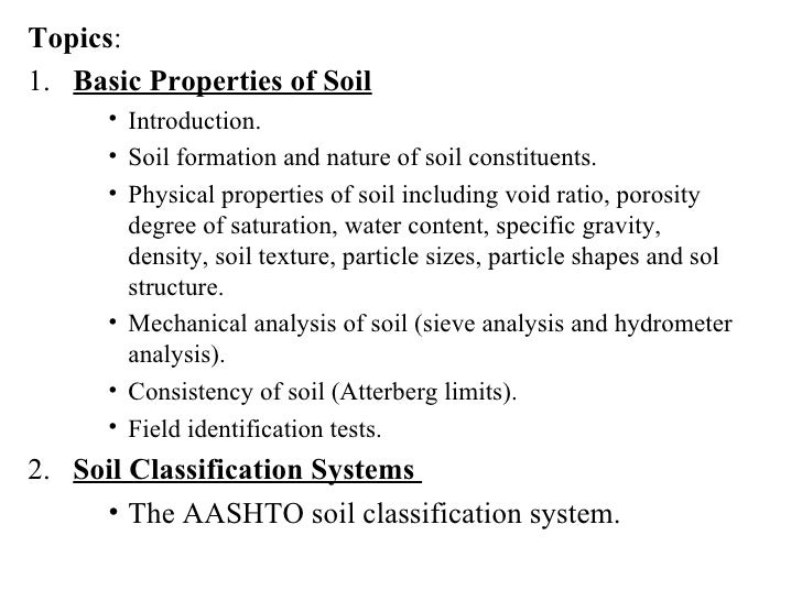 what are the four properties of soil