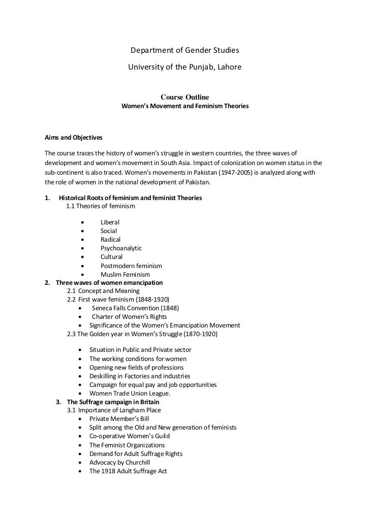 Women's Studies Paper Topics