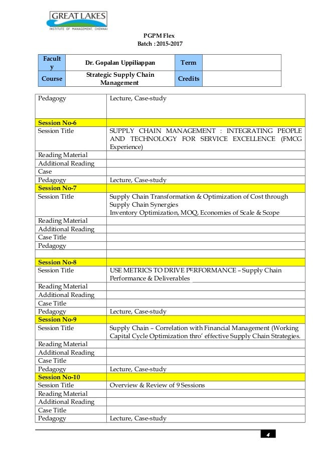 course overview template