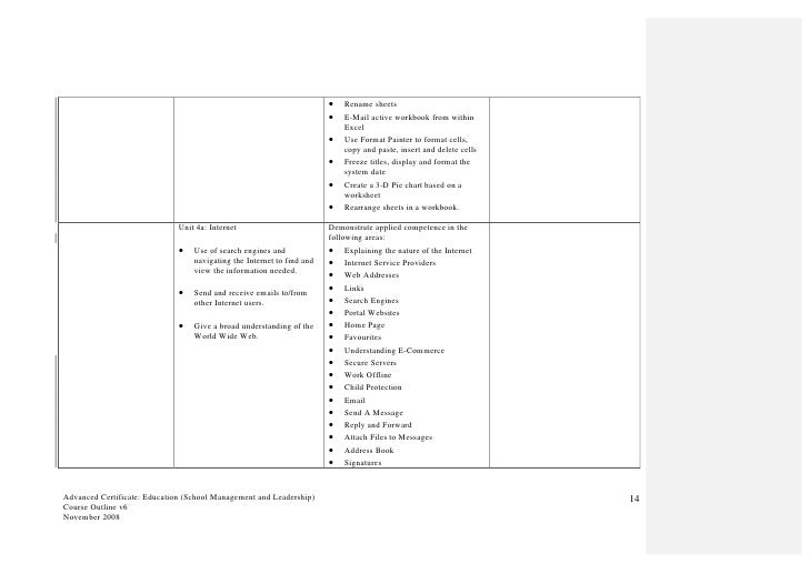 course outline for advanced certificate education school management. Black Bedroom Furniture Sets. Home Design Ideas