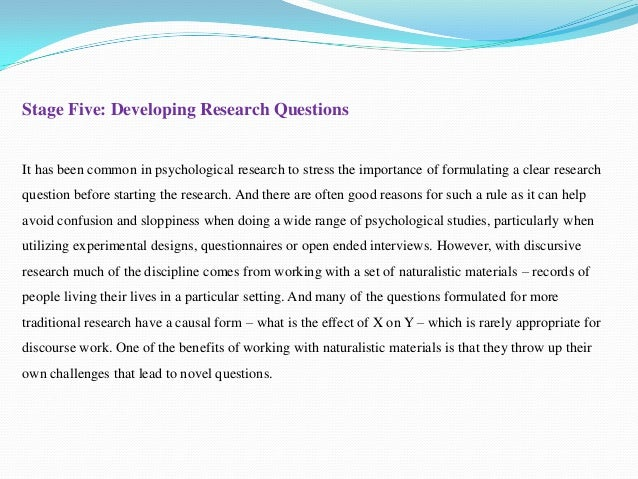open ended questions in research papers The open-ended questions are intended to obtain your personal experience and perceptions the interview time may take about 2 hours if you agree to volunteer and participate in the research.