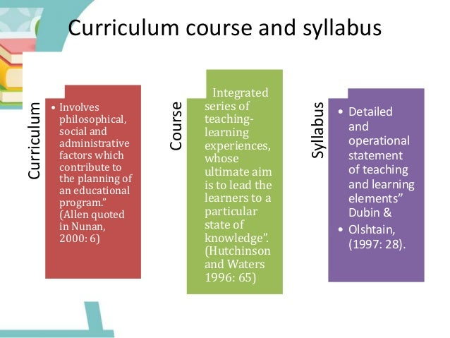 course planning and syllabus design in language teaching