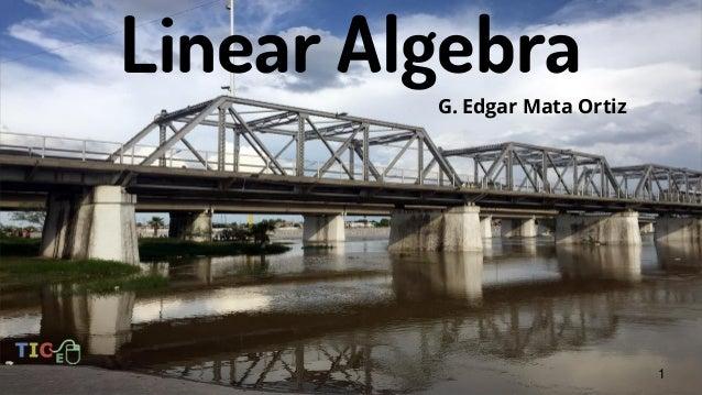 Linear Algebra G. Edgar Mata Ortiz 1