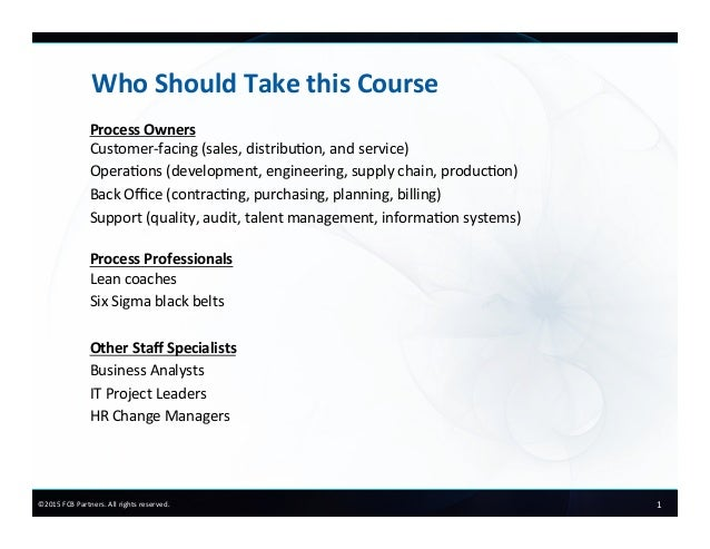 FCB Partners Course Preview:  Process Owners in Action Slide 2