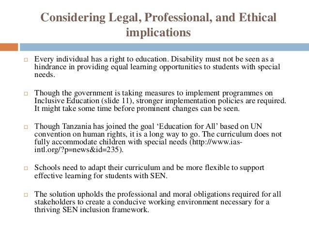 Special Education More Flexible >> Analysis Of A Special Education Issue Course Project With