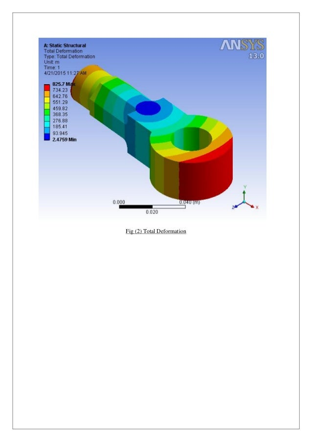 Analysis of Eye End of Knuckle Joint using ANSYS