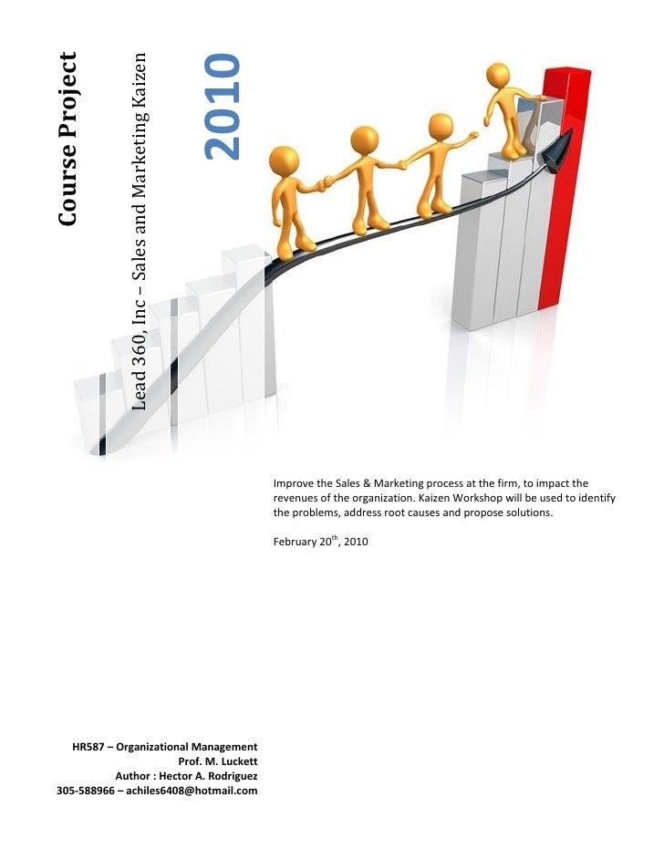 Course Project                                                                   2010                  Lead 360, Inc – Sal...