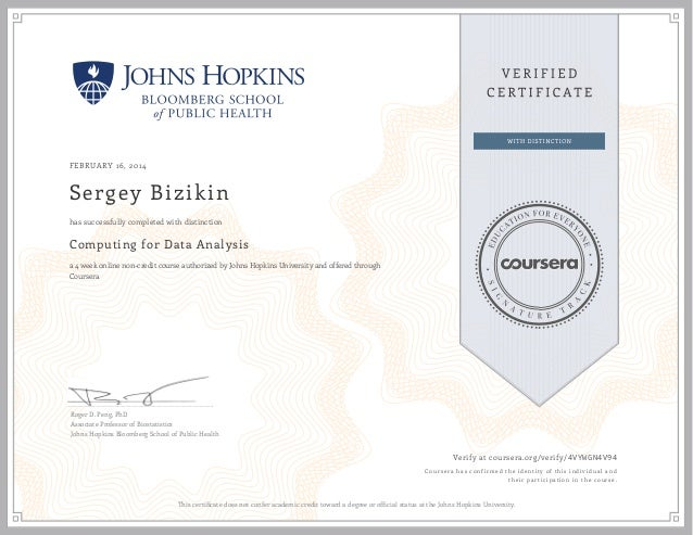 Computing For Data Analysis Johns Hopkins University