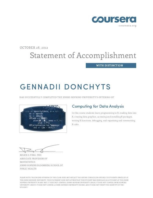 coursera.orgOCTOBER 28, 2012          Statement of Accomplishment                                                         ...