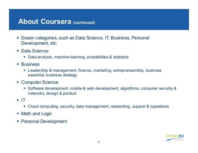 Coursera data science specialization