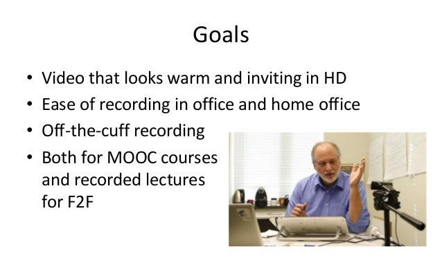 A Simple Lecture Recording Setup Slide 2