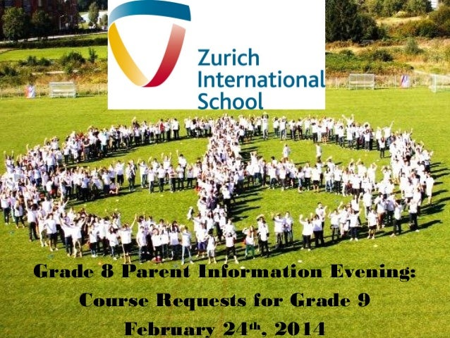 Grade 8 Parent Information Evening: Course Requests for Grade 9 February 24th, 2014