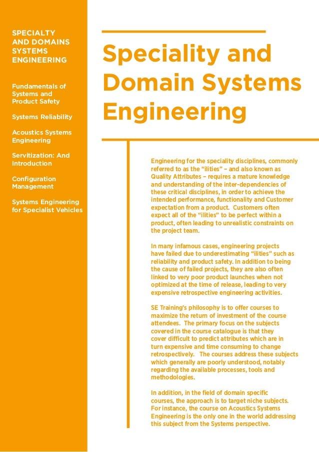 Systems Engineering training brochure