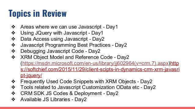 Dynamics 365 CRM Javascript Customization