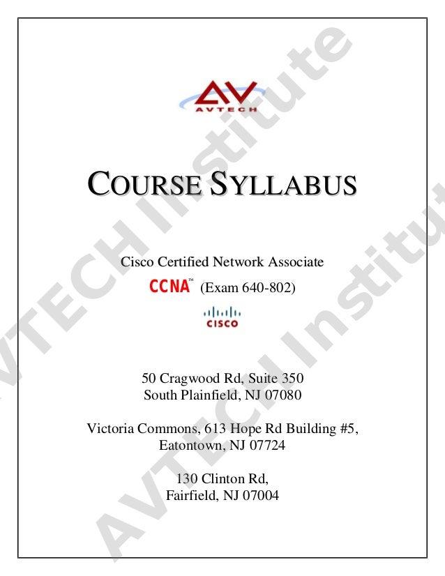 Course syllabus ccna