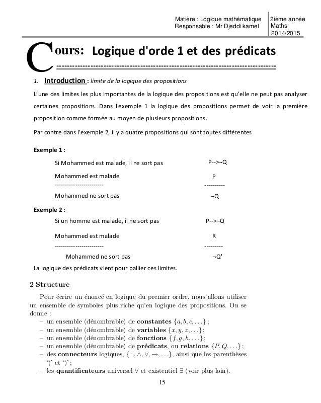 Cours et exercices logique mr djeddi kamel for Cours fonction logique