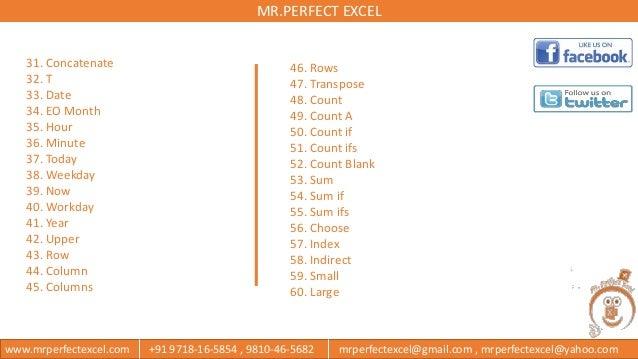 Index Indirect Excel
