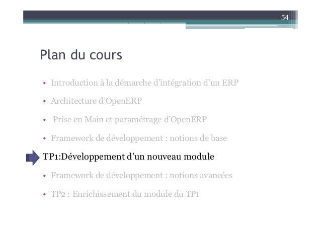 Cours etude cas erp seance2 for Cours d architecture en ligne