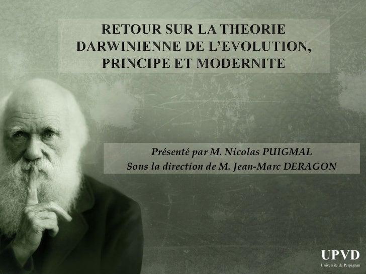 Présenté par M. Nicolas PUIGMAL           Sous la direction de M. Jean-Marc DERAGON                                       ...