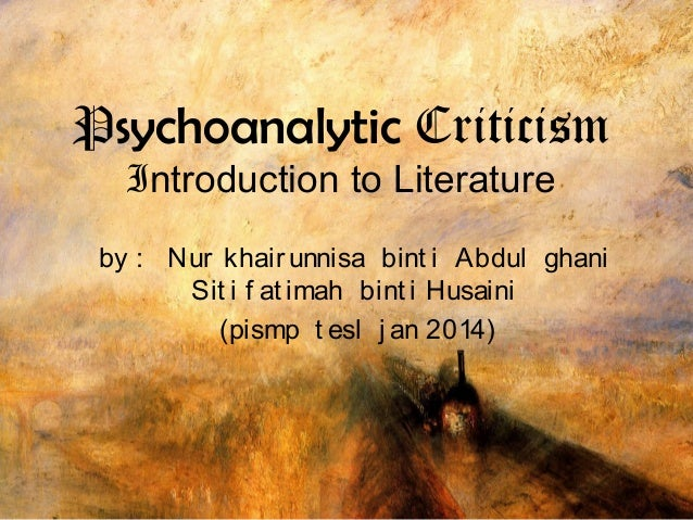 psychoanalytic approach to literature