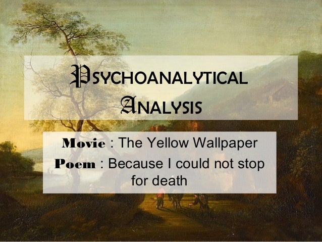 the yellow wallpaper psychoanalytical and The yellow wallpaper by charlotte perkins gilman is one of the most interesting short feminist texts i've ever read (need a refresher check wikipedia) i have a feeling several people agree, so this will be less of a book review and more of an overlap between several things i have going on all at once right now.